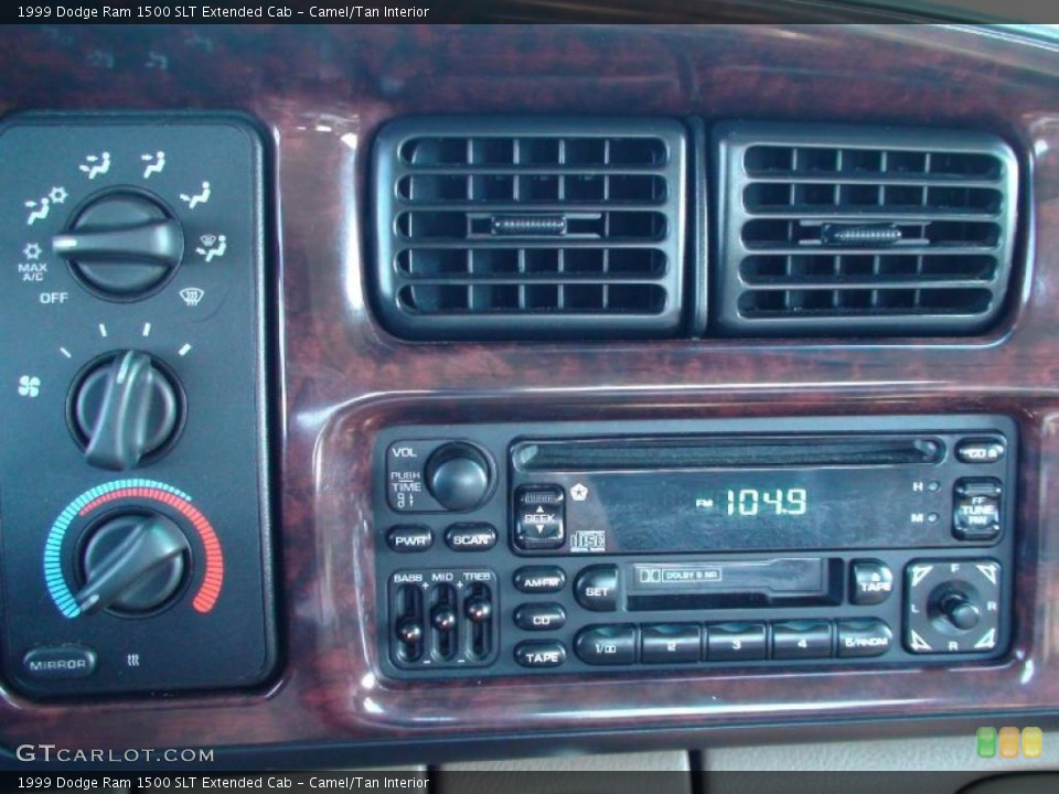 Camel/Tan Interior Controls for the 1999 Dodge Ram 1500 SLT Extended Cab #38041414