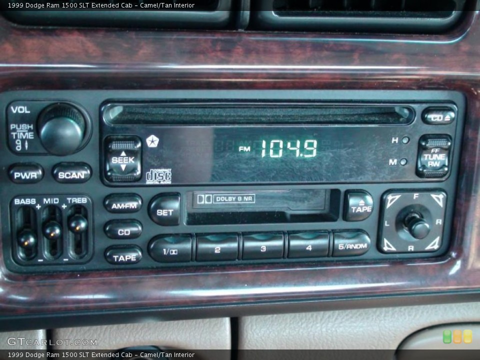 Camel/Tan Interior Controls for the 1999 Dodge Ram 1500 SLT Extended Cab #38041427