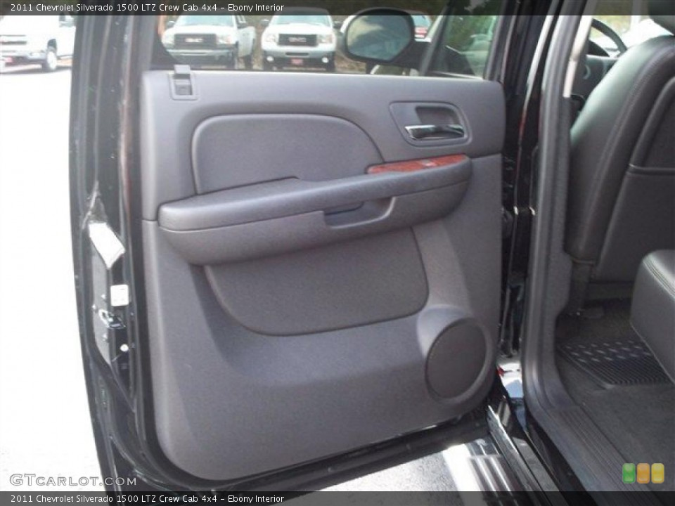Ebony Interior Photo for the 2011 Chevrolet Silverado 1500 LTZ Crew Cab 4x4 #38071917