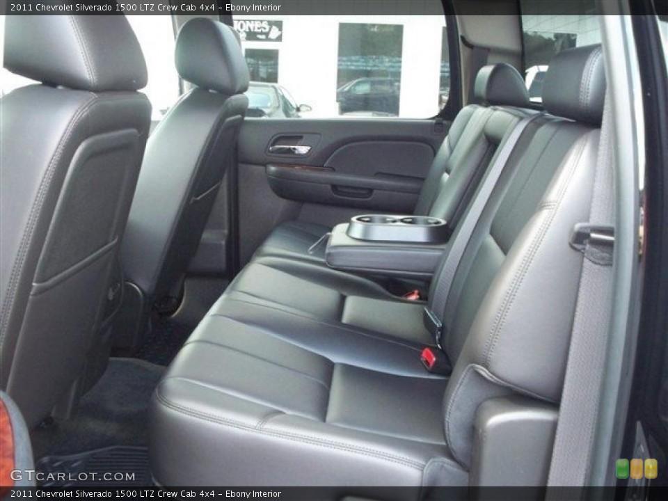 Ebony Interior Photo for the 2011 Chevrolet Silverado 1500 LTZ Crew Cab 4x4 #38071929