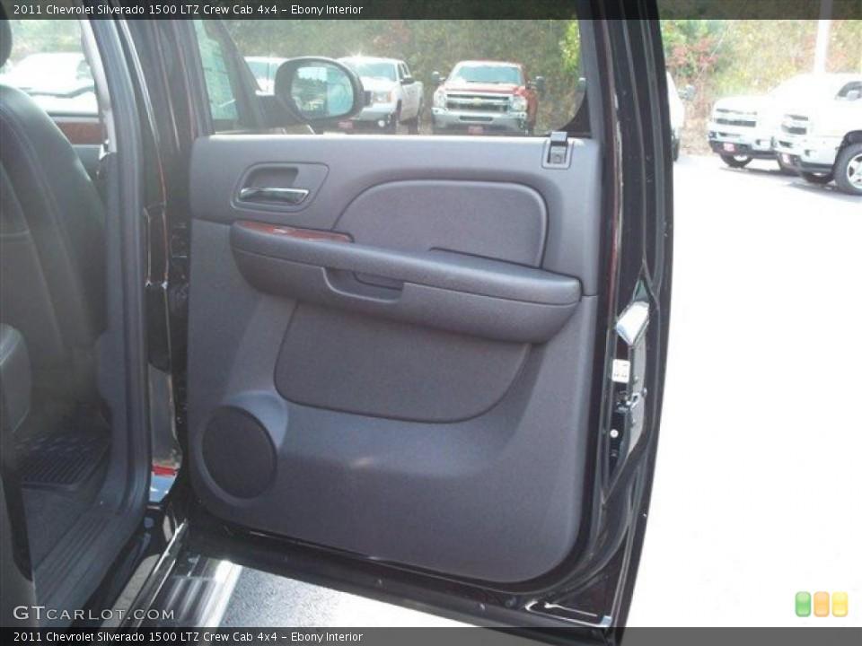 Ebony Interior Photo for the 2011 Chevrolet Silverado 1500 LTZ Crew Cab 4x4 #38071945