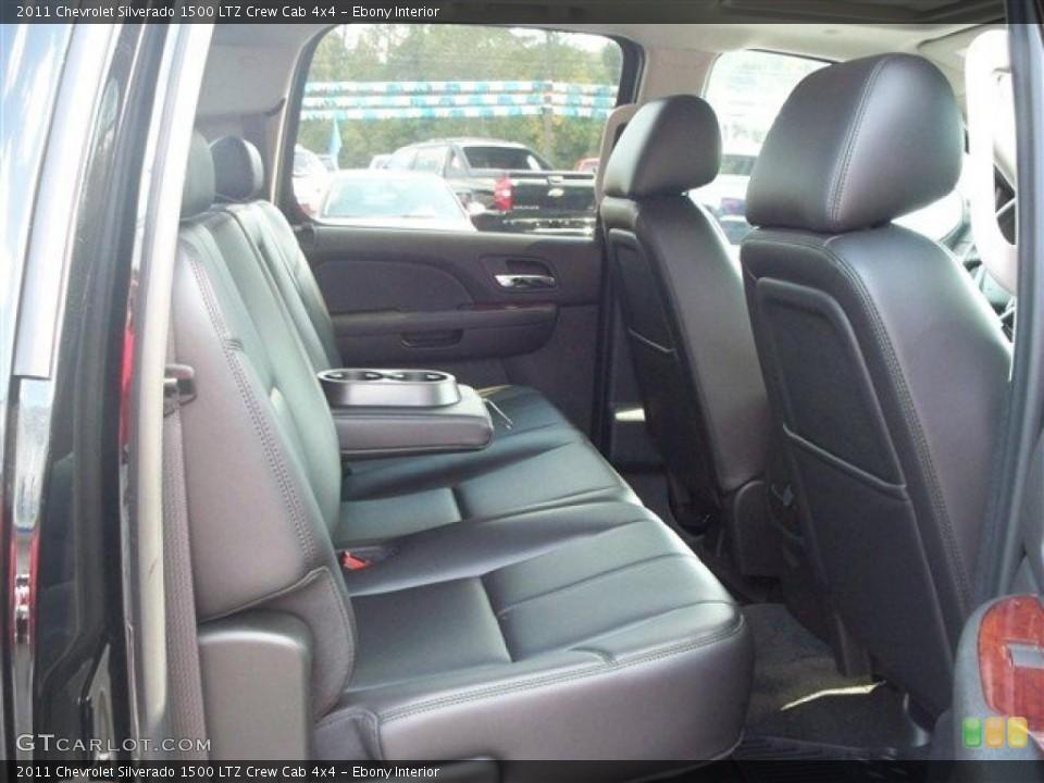 Ebony Interior Photo for the 2011 Chevrolet Silverado 1500 LTZ Crew Cab 4x4 #38071965