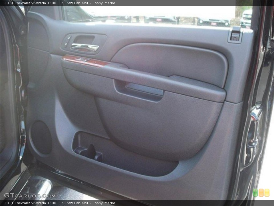 Ebony Interior Photo for the 2011 Chevrolet Silverado 1500 LTZ Crew Cab 4x4 #38071981