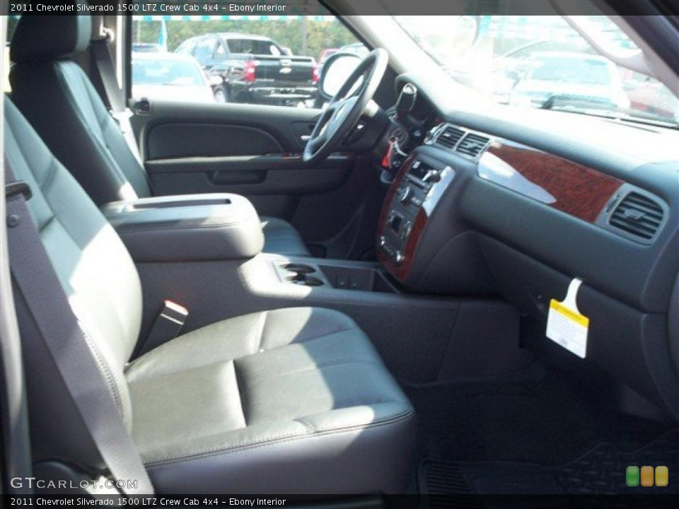 Ebony Interior Photo for the 2011 Chevrolet Silverado 1500 LTZ Crew Cab 4x4 #38071993