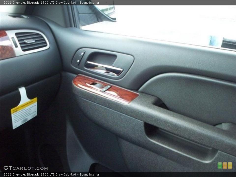 Ebony Interior Photo for the 2011 Chevrolet Silverado 1500 LTZ Crew Cab 4x4 #38072037