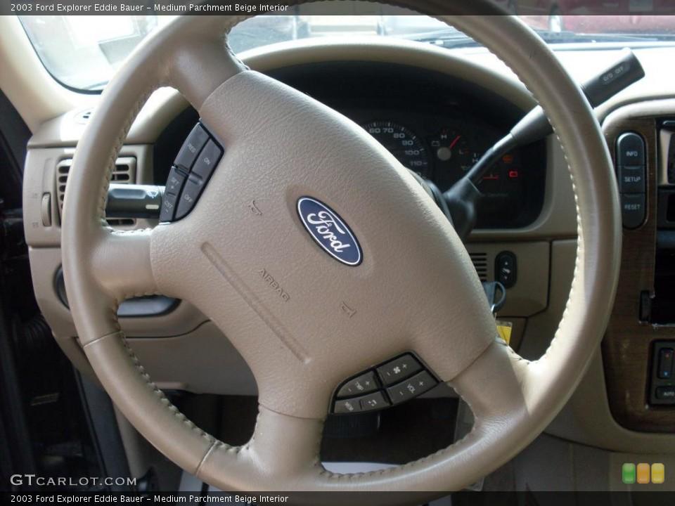 Medium Parchment Beige Interior Steering Wheel for the 2003 Ford Explorer Eddie Bauer #38081027