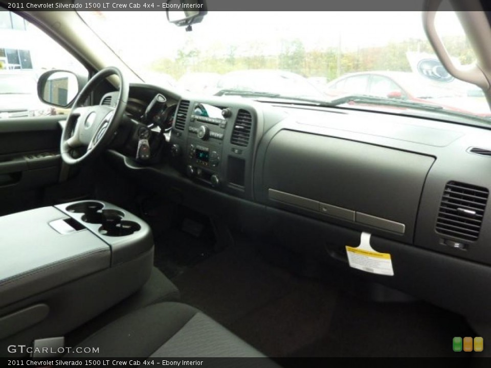 Ebony Interior Photo for the 2011 Chevrolet Silverado 1500 LT Crew Cab 4x4 #38102067