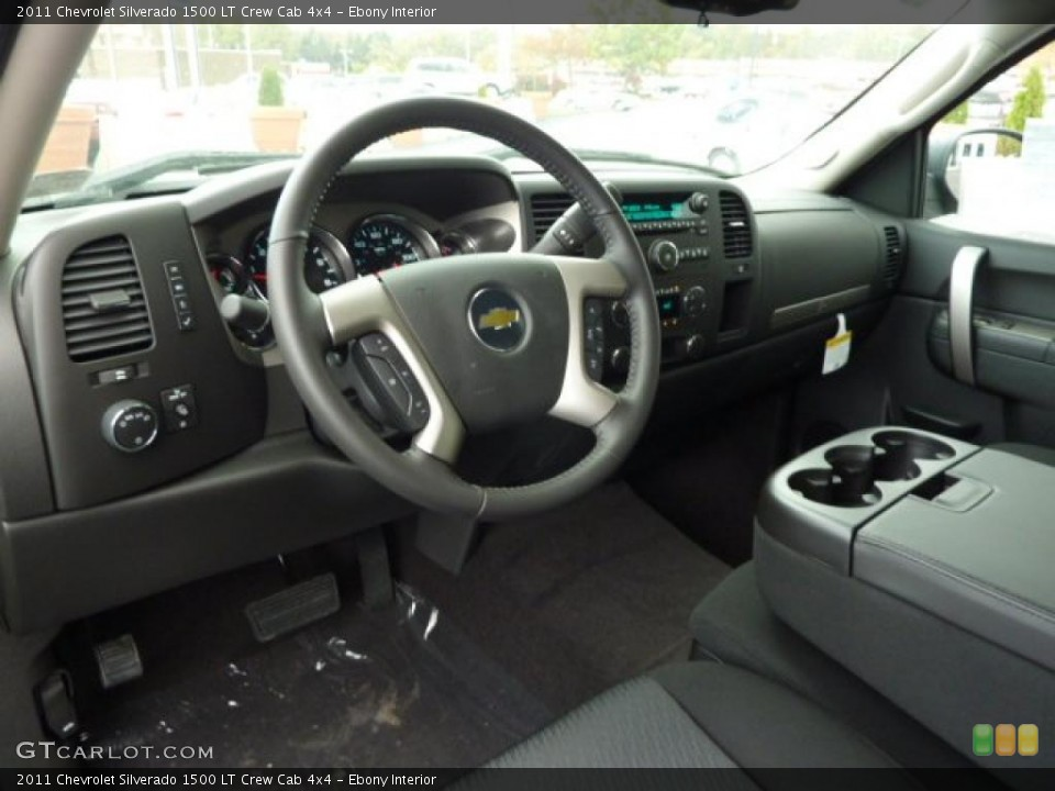 Ebony Interior Dashboard for the 2011 Chevrolet Silverado 1500 LT Crew Cab 4x4 #38102135
