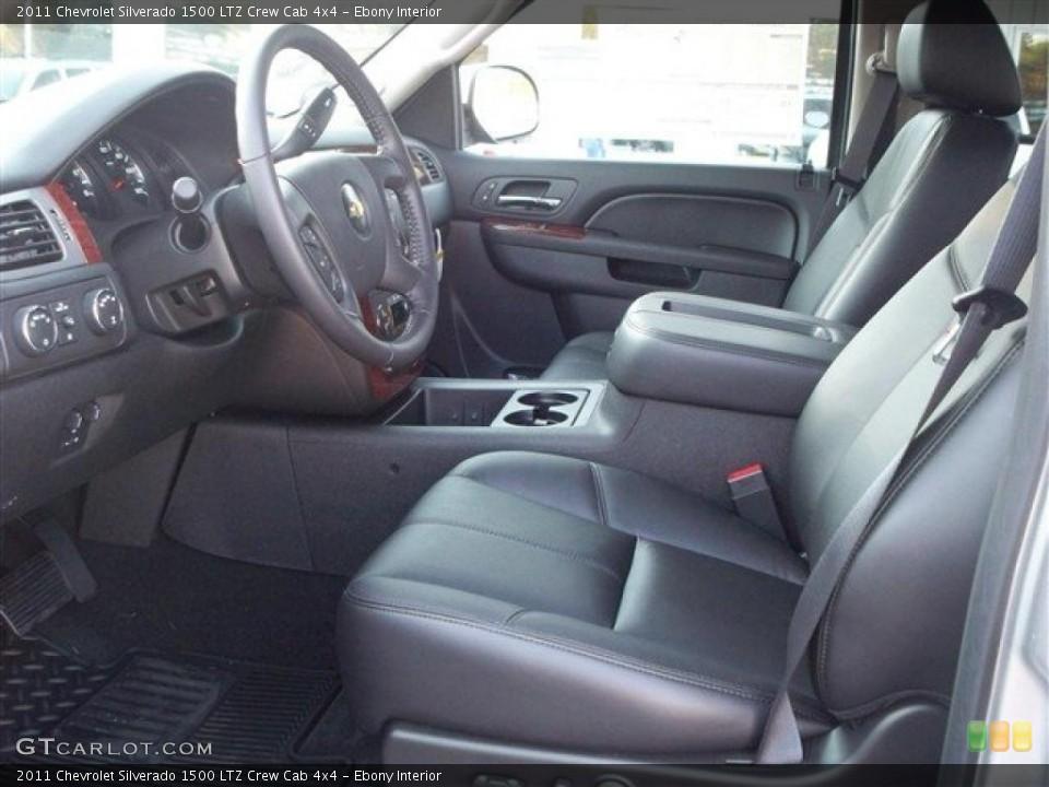 Ebony Interior Photo for the 2011 Chevrolet Silverado 1500 LTZ Crew Cab 4x4 #38105207