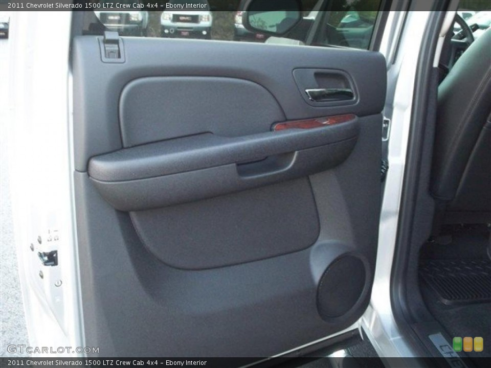 Ebony Interior Photo for the 2011 Chevrolet Silverado 1500 LTZ Crew Cab 4x4 #38105215