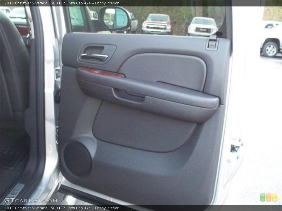 Ebony Interior Photo for the 2011 Chevrolet Silverado 1500 LTZ Crew Cab 4x4 #38105251