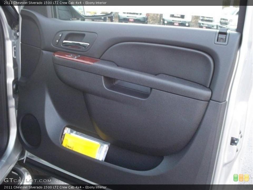 Ebony Interior Photo for the 2011 Chevrolet Silverado 1500 LTZ Crew Cab 4x4 #38105283