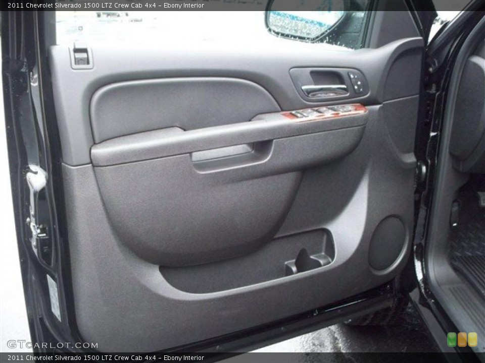 Ebony Interior Photo for the 2011 Chevrolet Silverado 1500 LTZ Crew Cab 4x4 #38105583