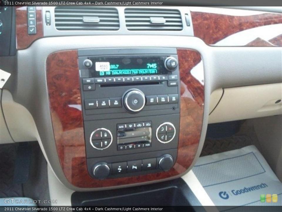 Dark Cashmere/Light Cashmere Interior Controls for the 2011 Chevrolet Silverado 1500 LTZ Crew Cab 4x4 #38106175