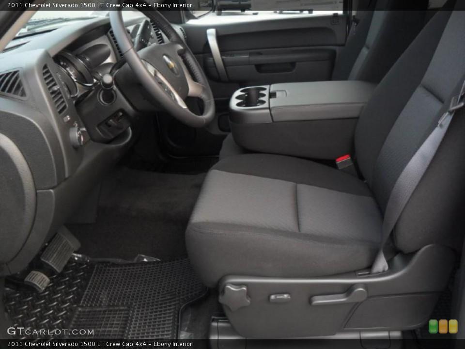 Ebony Interior Photo for the 2011 Chevrolet Silverado 1500 LT Crew Cab 4x4 #38134842