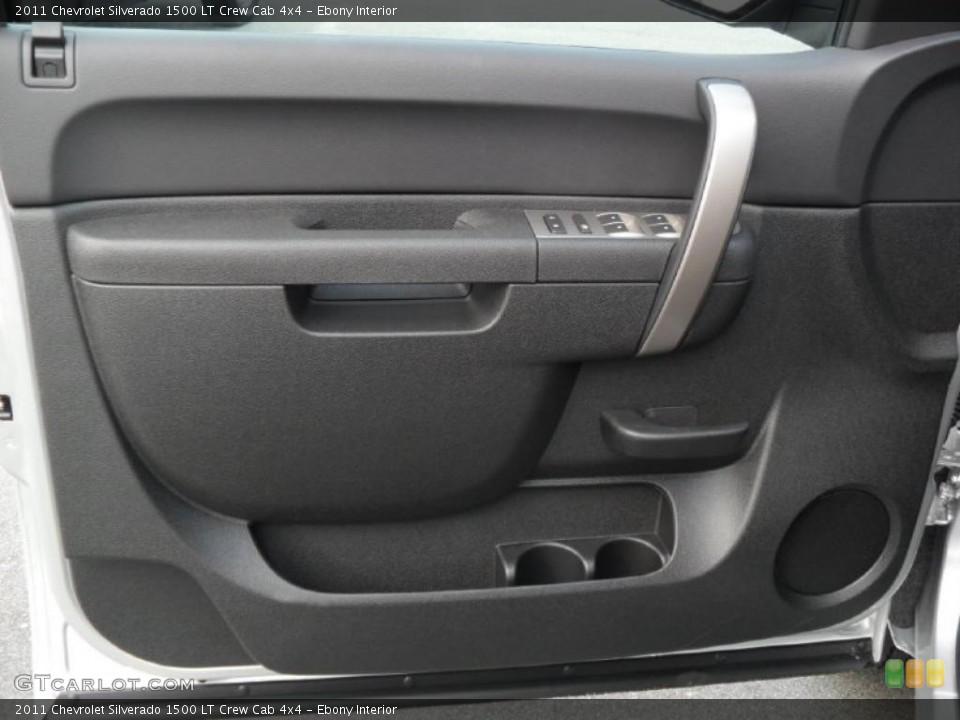 Ebony Interior Photo for the 2011 Chevrolet Silverado 1500 LT Crew Cab 4x4 #38134874