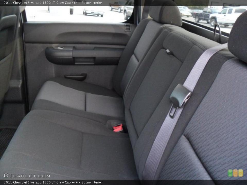 Ebony Interior Photo for the 2011 Chevrolet Silverado 1500 LT Crew Cab 4x4 #38134958