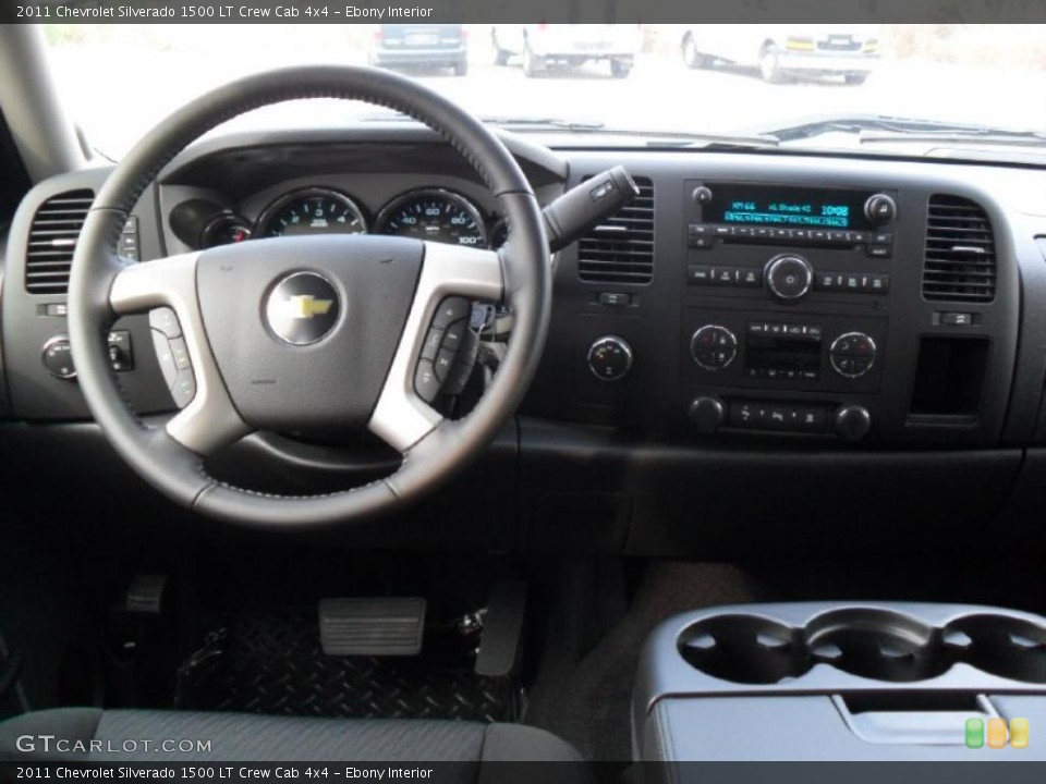 Ebony Interior Dashboard for the 2011 Chevrolet Silverado 1500 LT Crew Cab 4x4 #38134990