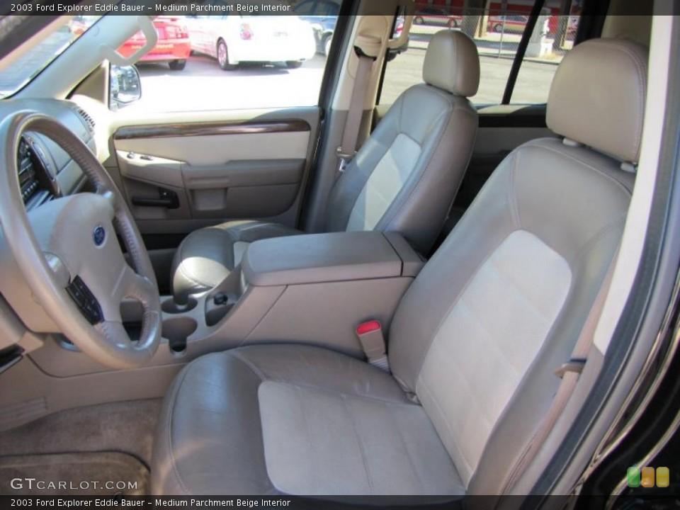 Medium Parchment Beige Interior Photo for the 2003 Ford Explorer Eddie Bauer #38207328