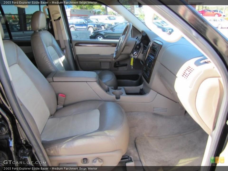 Medium Parchment Beige Interior Photo for the 2003 Ford Explorer Eddie Bauer #38207424
