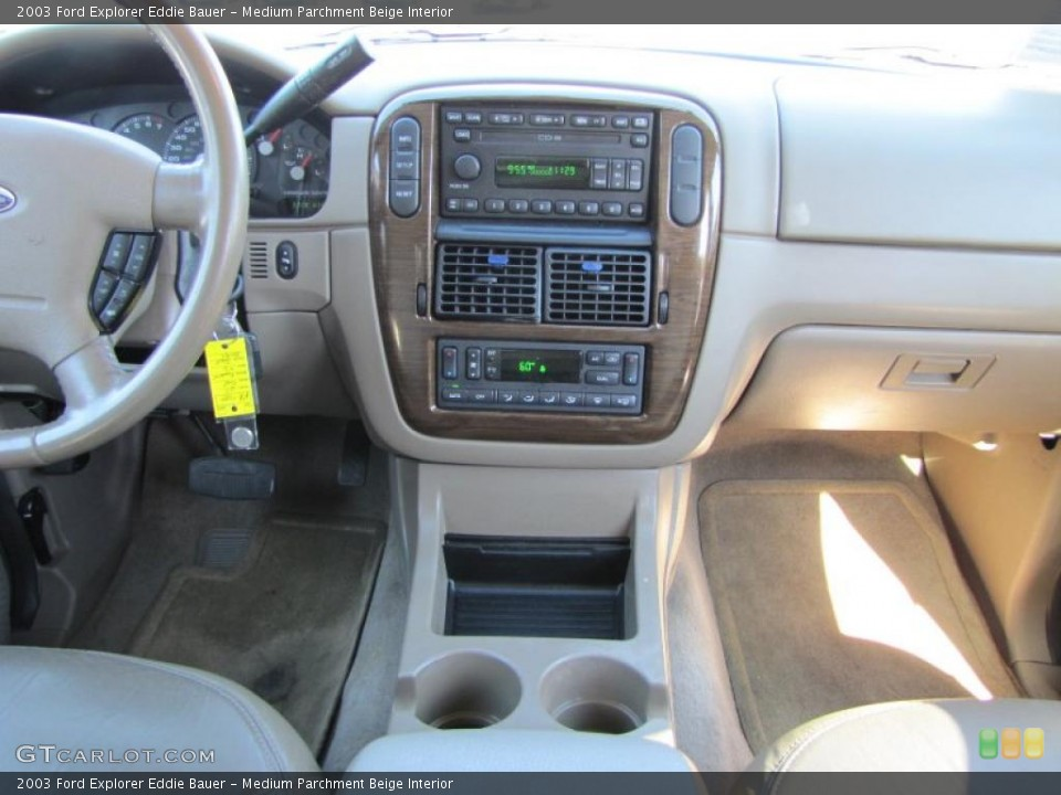 Medium Parchment Beige Interior Controls for the 2003 Ford Explorer Eddie Bauer #38207448