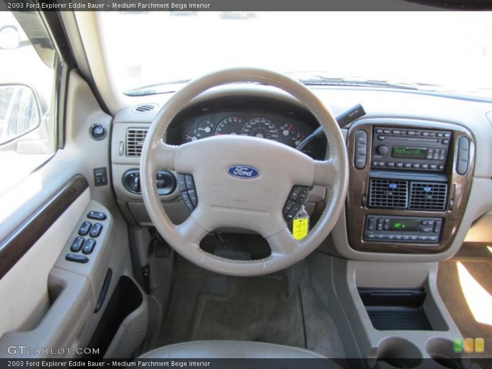Medium Parchment Beige Interior Dashboard for the 2003 Ford Explorer Eddie Bauer #38207464