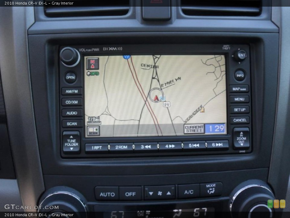 Gray Interior Navigation for the 2010 Honda CR-V EX-L #38275820