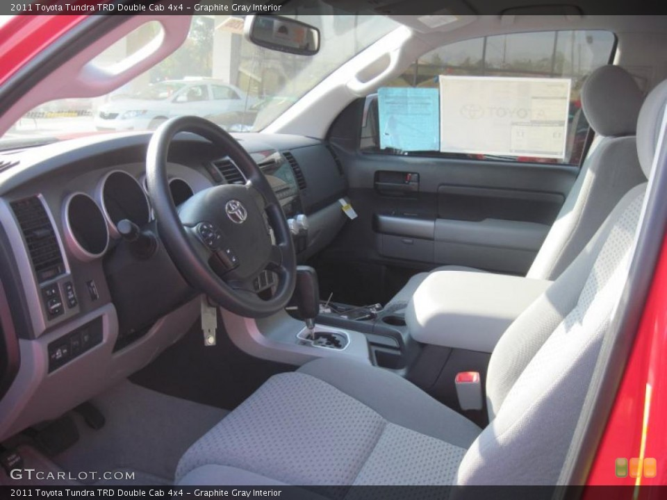 Graphite Gray Interior Photo for the 2011 Toyota Tundra TRD Double Cab 4x4 #38327195