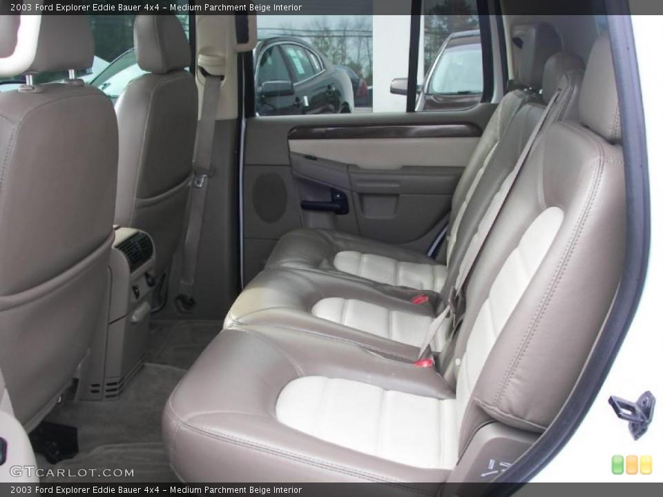 Medium Parchment Beige Interior Photo for the 2003 Ford Explorer Eddie Bauer 4x4 #38336463