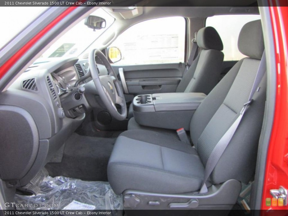Ebony Interior Photo for the 2011 Chevrolet Silverado 1500 LT Crew Cab #38403952