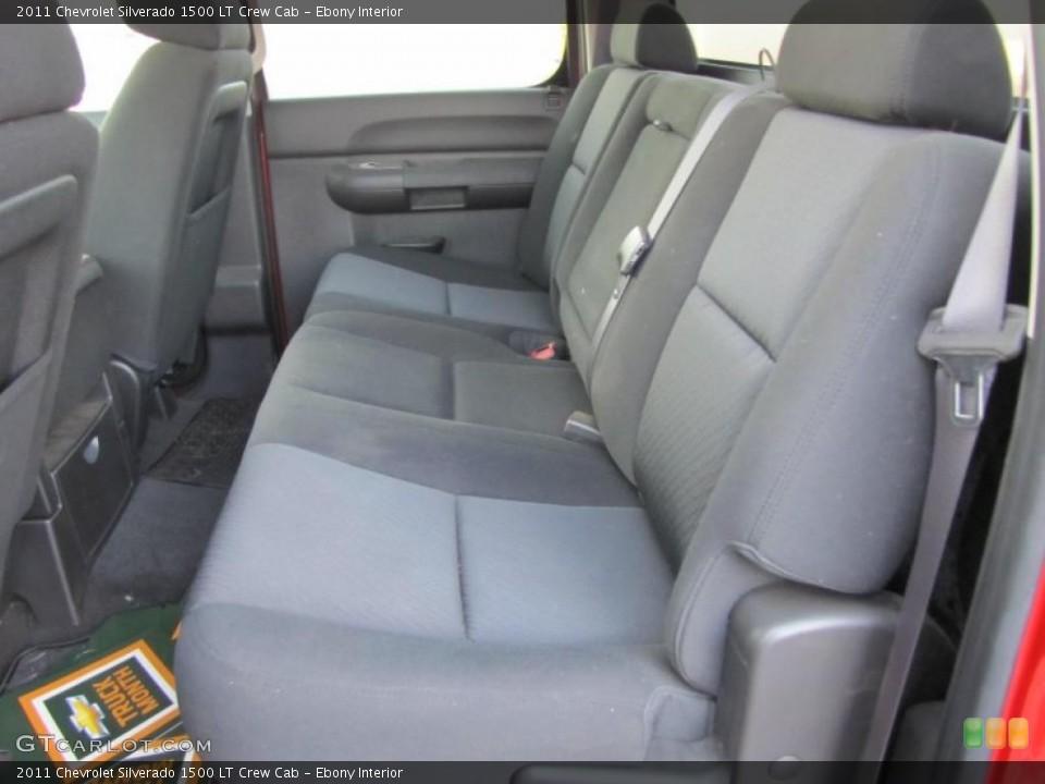 Ebony Interior Photo for the 2011 Chevrolet Silverado 1500 LT Crew Cab #38403976