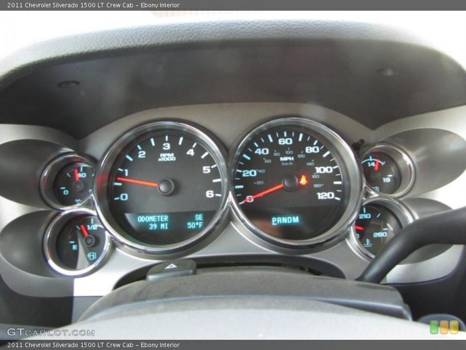 Ebony Interior Gauges for the 2011 Chevrolet Silverado 1500 LT Crew Cab #38404028