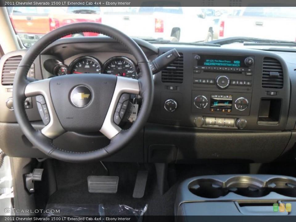 Ebony Interior Dashboard for the 2011 Chevrolet Silverado 1500 LT Extended Cab 4x4 #38424033