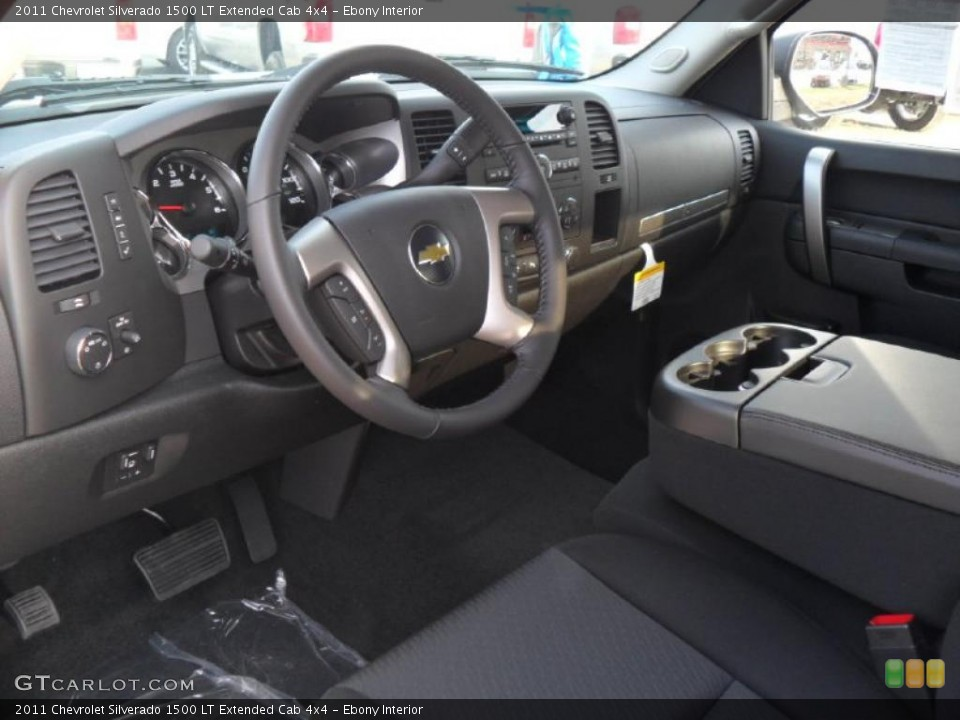 Ebony Interior Dashboard for the 2011 Chevrolet Silverado 1500 LT Extended Cab 4x4 #38424189