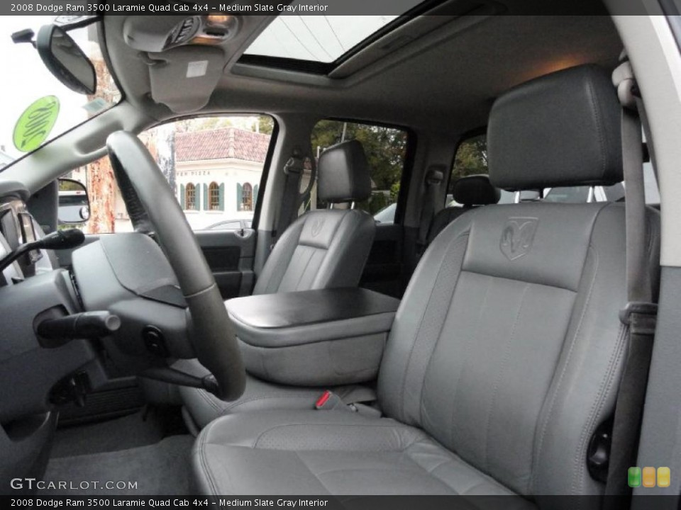 Medium Slate Gray Interior Photo for the 2008 Dodge Ram 3500 Laramie Quad Cab 4x4 #38434196