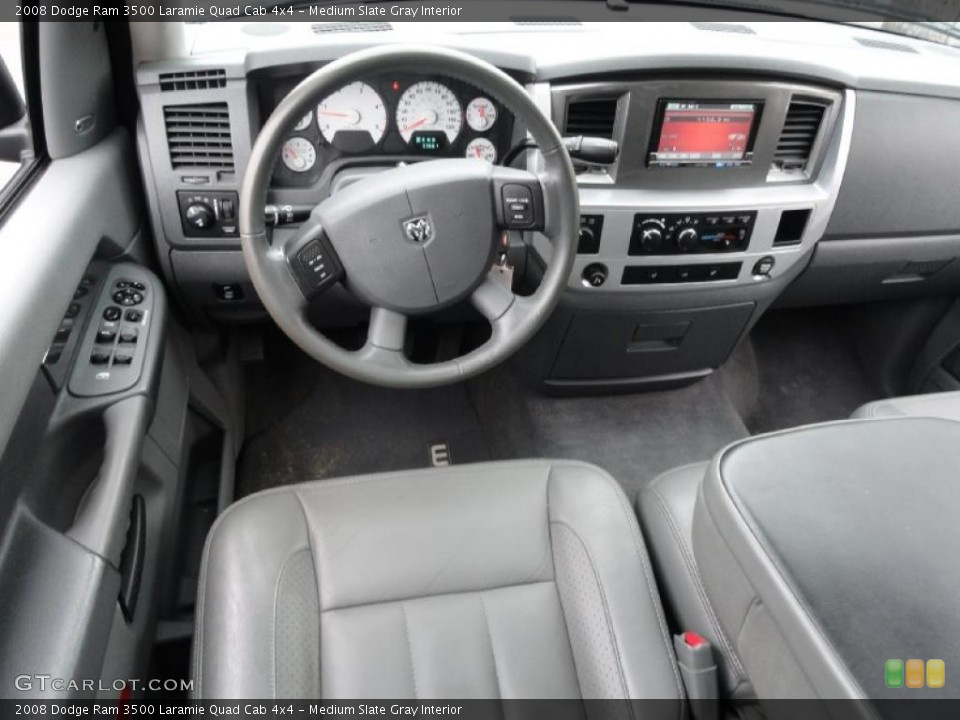 Medium Slate Gray Interior Dashboard for the 2008 Dodge Ram 3500 Laramie Quad Cab 4x4 #38434212
