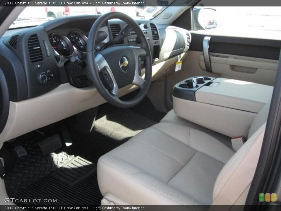 Light Cashmere/Ebony Interior Prime Interior for the 2011 Chevrolet Silverado 1500 LT Crew Cab 4x4 #38443120