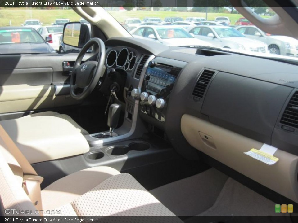 Sand Beige Interior Photo for the 2011 Toyota Tundra CrewMax #38571980
