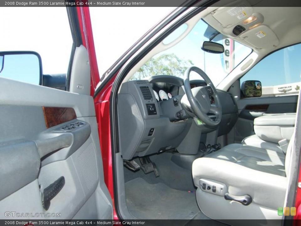Medium Slate Gray Interior Prime Interior for the 2008 Dodge Ram 3500 Laramie Mega Cab 4x4 #38575928