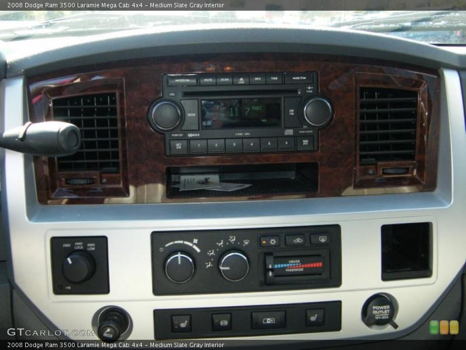Medium Slate Gray Interior Controls for the 2008 Dodge Ram 3500 Laramie Mega Cab 4x4 #38576048