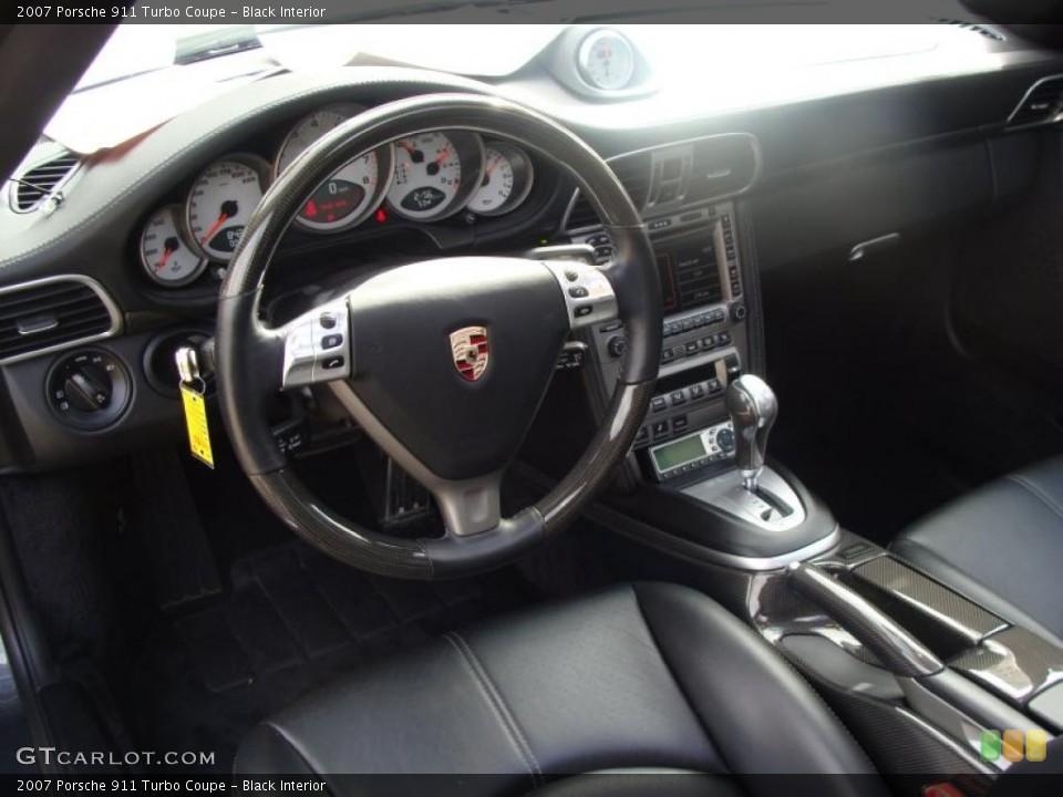Black Interior Photo for the 2007 Porsche 911 Turbo Coupe #38606437
