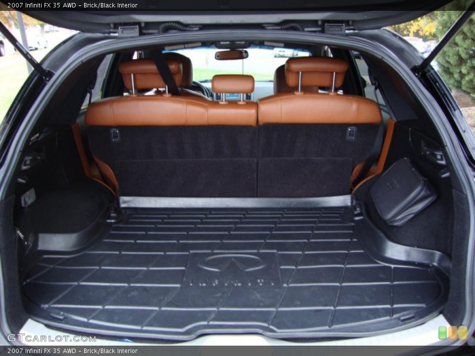 Brick/Black Interior Trunk for the 2007 Infiniti FX 35 AWD #38774615