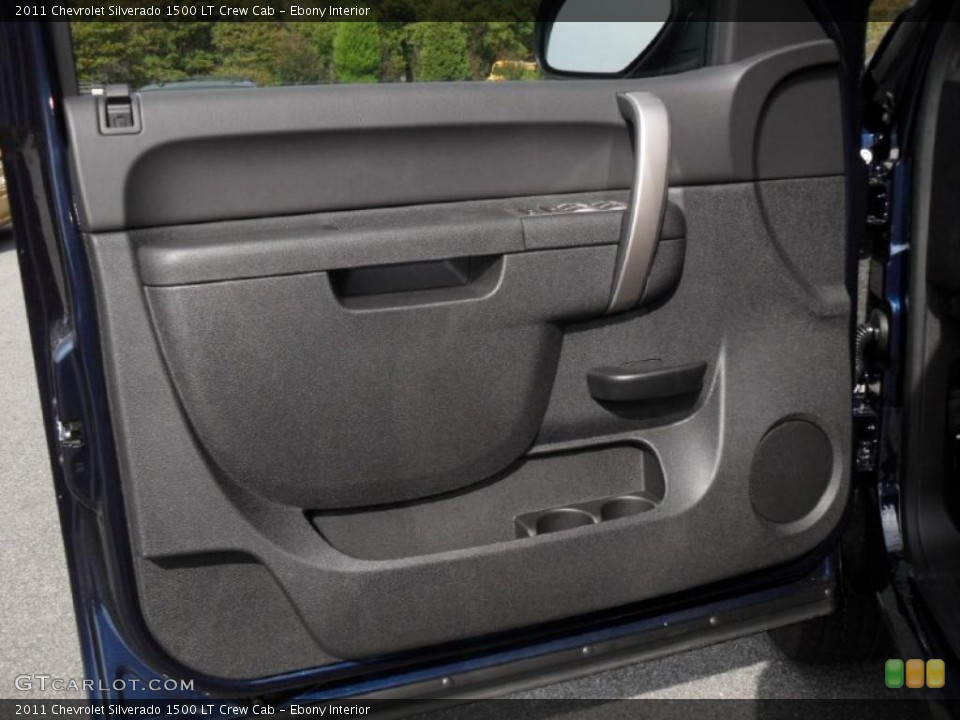 Ebony Interior Door Panel for the 2011 Chevrolet Silverado 1500 LT Crew Cab #38822132