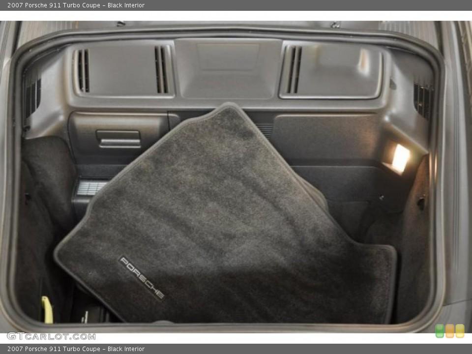 Black Interior Trunk for the 2007 Porsche 911 Turbo Coupe #38869636