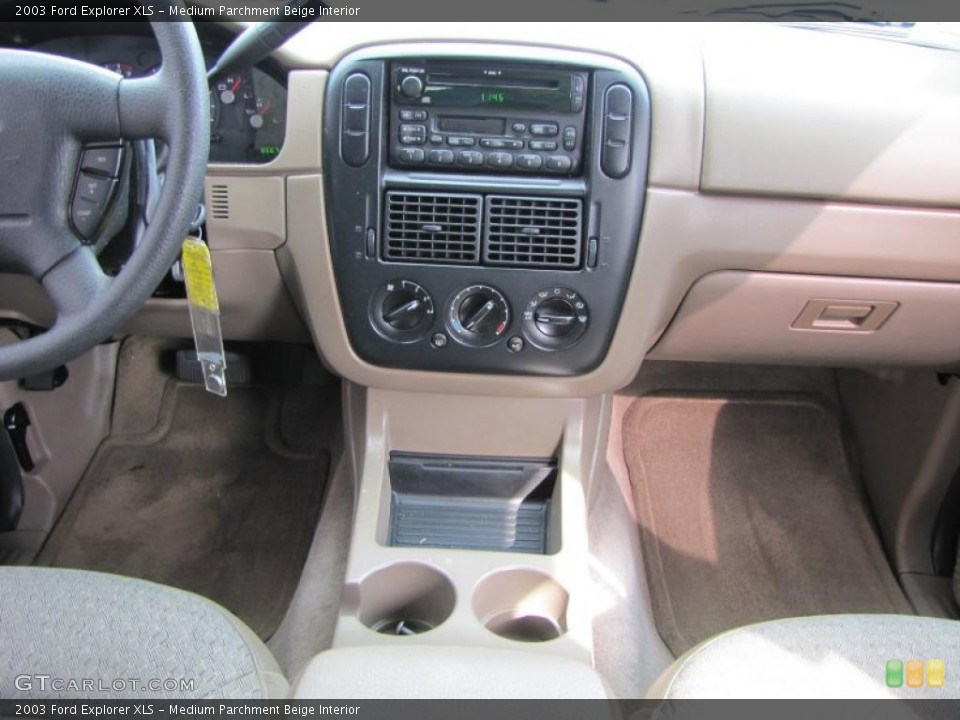 Medium Parchment Beige Interior Dashboard for the 2003 Ford Explorer XLS #38895806