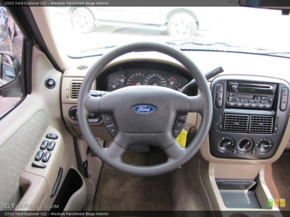 Medium Parchment Beige Interior Dashboard for the 2003 Ford Explorer XLS #38895822