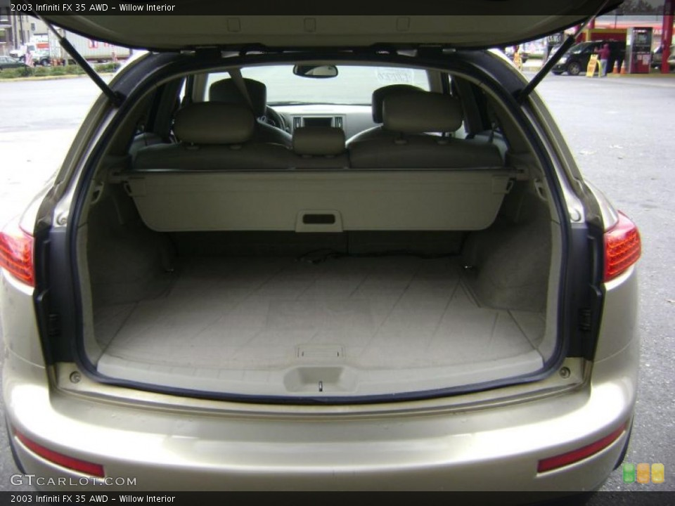Willow Interior Trunk for the 2003 Infiniti FX 35 AWD #38961938