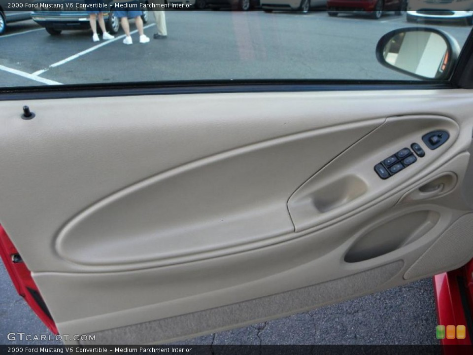 Medium Parchment Interior Door Panel for the 2000 Ford Mustang V6 Convertible #38976439