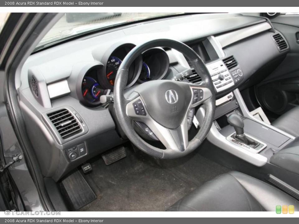 Ebony 2008 Acura RDX Interiors