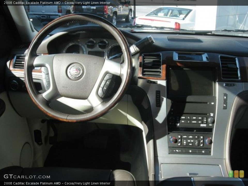 Cocoa/Very Light Linen Interior Dashboard for the 2008 Cadillac Escalade Platinum AWD #39171586